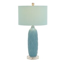 "Ceramic Acrylic 29"" H Table Lamp with Drum Shade"
