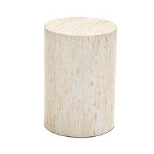 Graceful Wood Inlay Stool
