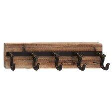 Wood Metal Wall Coat Rack