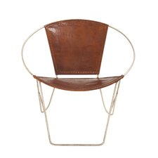Metal Leather Arm Chair