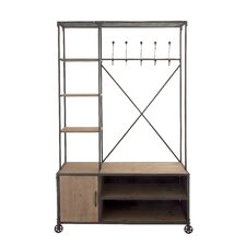 Multipurpose Metal Wood Hall Cabinet