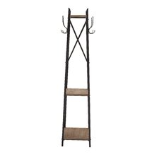 Stylish Durable Constructed Metal Wood Coat Rack