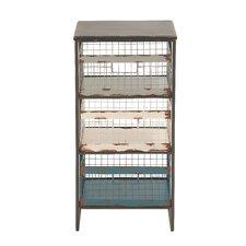 Rustic Metal Wood Storage Rack