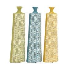 Long and Uniquely Designed Ceramic Vase (Set of 3)