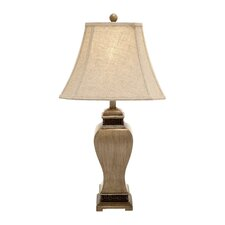 "Classy and Creative 30"" H Table Lamp with Bell Shade"