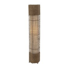 Customary Metal Rattan Floor Lamp