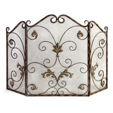 Catarina 3 Panel Wrought Iron Fireplace Screen