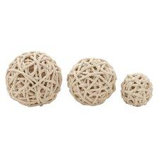 3 Piece Decorative Rope Ball Set