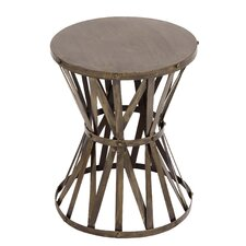 Rustic Metal Accent Stool