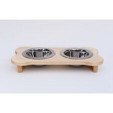 Double Bowl Elevated Feeder