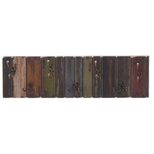Freida Wooden Crafted Metal 7 Hook Coat Rack