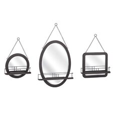 Ella Elaine 3 Piece Shaving Wall Mirror Set