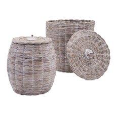 Cassiel 2 Piece Lidded Basket Set