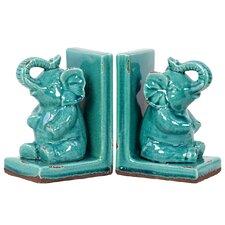 Classy Stoneware Elephant Bookend (Set of 2)
