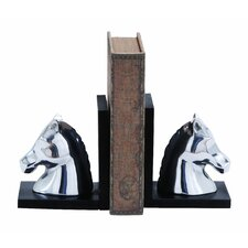 Contemporary Horse Book Ends (Set of 2)