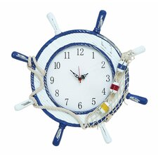 "17"" Ship Wheel Wall Clock"