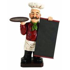 Chef Figurine Menu Chalkboard