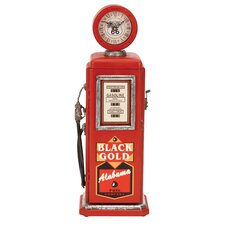 Gas Pump Tabletop Clock