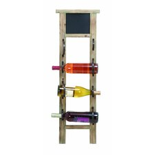 Chalkboard 4 Bottle Wall Mounted Wine Rack