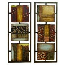 2 Piece Abstract Wall Décor Set