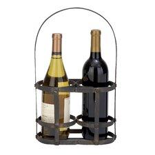 2 Bottle Tabletop Wine Rack