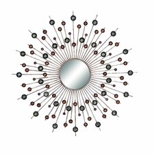 Circles Sunburst Wall Mirror