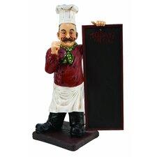 Chef Statue Chalkboard