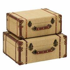 Woodland Imports 2 Piece Trunk Set