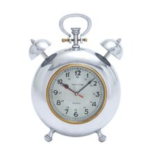 Beautiful Metal Clock with Display Numbers and Snooze Buttons