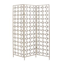 """71"""" x 51"""" 3 Panel Mirror Room Divider"""