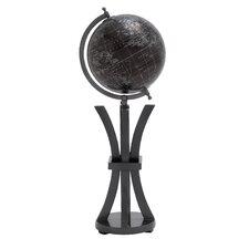 Elegant Wood and Metal Globe