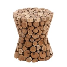 Teak Material Wooden Rustic Stool