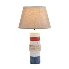 """Wooden Buoy Band 24""""  Table Lamp with Empire Shade"""
