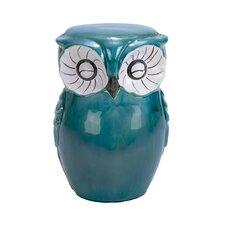 Ceramic Owl Shaped Stool