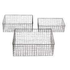 3 Piece Metal Wire Basket Set