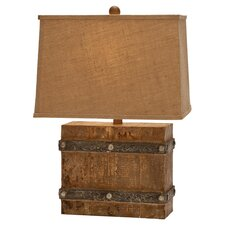 """Modern Suave 23"""" H Table Lamp with Rectangular Shade"""