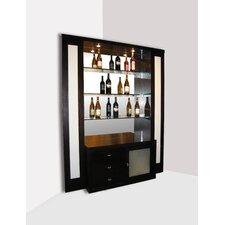 Elite Corner Back Bar with Wine Storage
