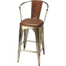 Industrial Chic Bar Stool with Cushion