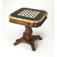 Heritage Antique Pedestal Game Table