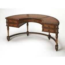 Connoisseur's Demilune Writing Desk with Leather Top
