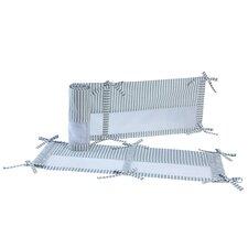 Elefant Blau Secure-Me Crib Bumper