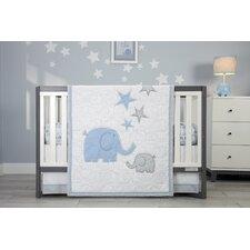 Elefant Blau 4 Piece Crib Bedding Set