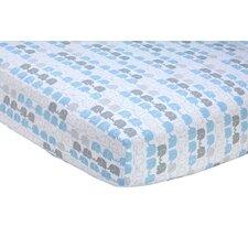 Elefant Blau Fitted Crib Sheet