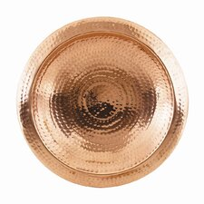 Hammered Copper Bowl with Rim and Threaded Base