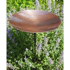 Burnt Copper Bird Bath