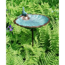 Scallop Shell Bird Bath with Stand