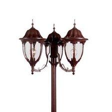 "Suffolk 3 Light 82.5"" Post Lantern Set"