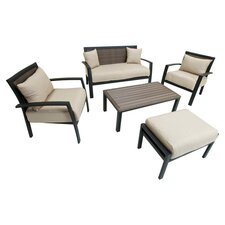 Zen 5 Piece Deep Seating Group with Cushions
