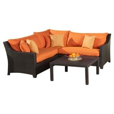 Deco 4 Piece Deep Seating Group with Cushions