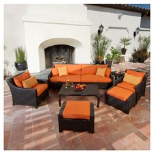 Deco 8 Piece Deep Seating Group with Cushions